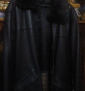 Кожаная куртка мужская чёрная