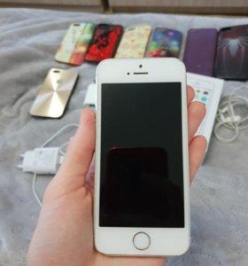 Айфон 5s 16 гб. Серебрянный