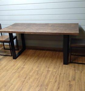 Обеденный (офисный) стол лофт