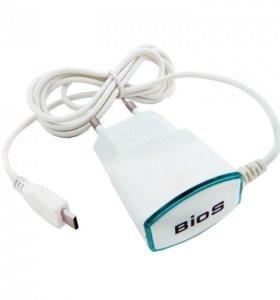 Сетевое зарядное устройство Bios MicroUSB 1 метр