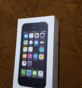 Коробка айфон 5s space gray 16gb