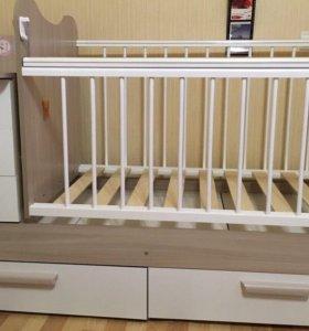 Детская кроватка-трансформер Вероника