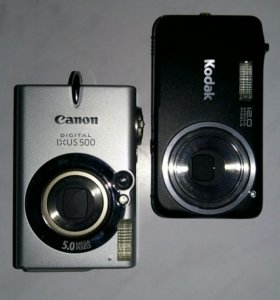 Фотоаппараты Canon и Kodak