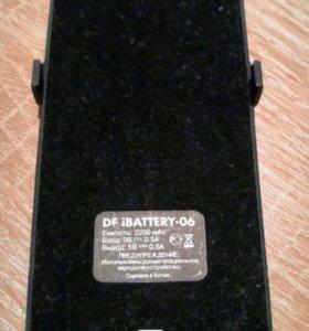 Внешний акб DF iBattery-06 2200mAh для iPhone 5/5s