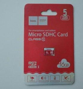 Micro SD Hoco 16 гб