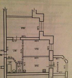 Квартира, 2 комнаты, 63.6 м²