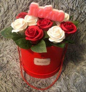Букет роз из мыла! Эксклюзивный и необычный!