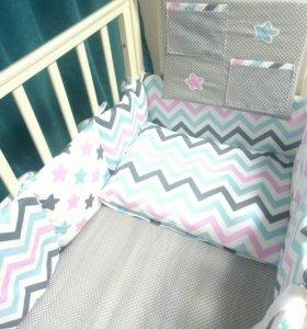Новый комплект в детскую кроватку