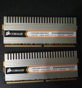 Оперативная память DDR 2-2x2гб