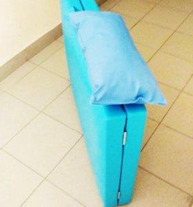 Массажный стол голубой