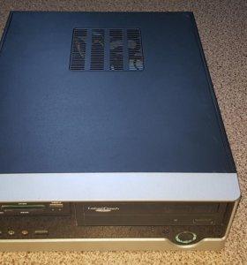 Корпус ITX + БП + кардридер + DVD-RW
