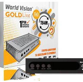 Цифровой приемник DVB-T2+iptv World Vision T64M