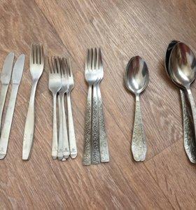 ложки, вилки, ножи столовые