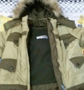 Детская зимняя куртка с пушком и со штанами