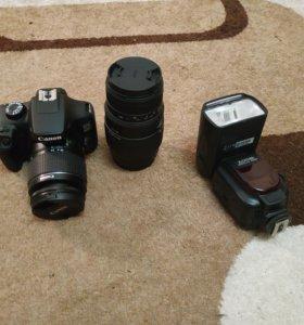Canon 4000d + Sigma 70-300mm + Zomei flashlight