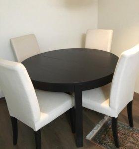 Обеденный стол и стулья ИКЕА
