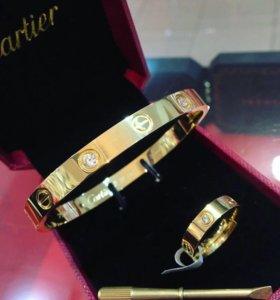 Браслет и кольцо Cartier