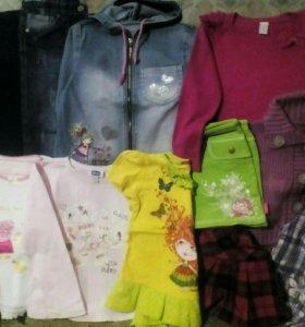 Пакет вещей на девочку 4-6 лет