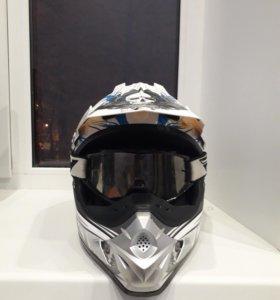 Кроссовый шлем Vector финский,оригинал