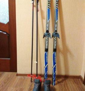 Лыжи и ботинки размер 34