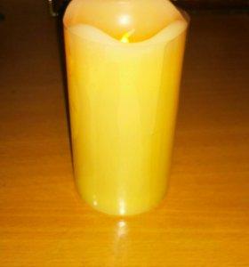 Свеча большая с подсветкой