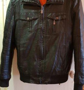 Куртка зимняя кожаная 46-48