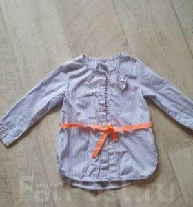 Рубашка на девочку 2-3 года
