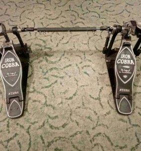 двойная педаль для ударных iron cobra