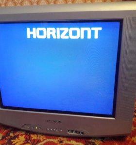 Телевизор горизонт с дефектом