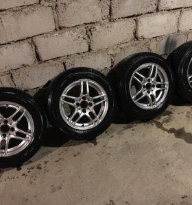 Колеса р14 литые, шины новые