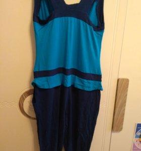 Комбинезон сине-голубой, женский
