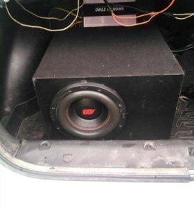 Сабвуфер acv 10 в самодельном коробе 40 литров