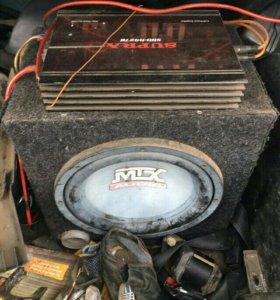 Продам саб MTX с усилителем