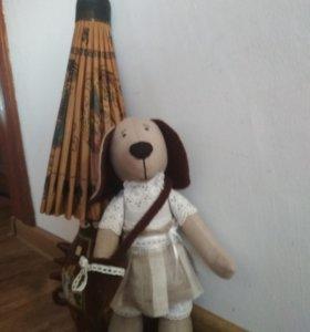 Интерьерная кукла- собака
