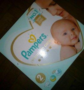 Pampers premium care. 102 штуки