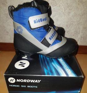 Детские лыжные ботинки 32 размера