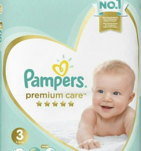 Pampers Premium Care 3 (6-10 кг) 74 шт