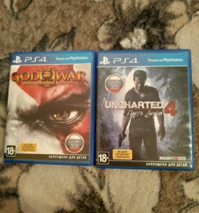 Uncharted 4, God of War 3.