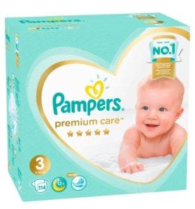 Подгузники Pampers Premium care 3 (уп. 114 шт.)
