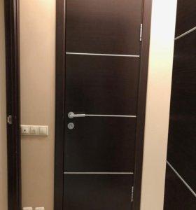 Комплект дверей шпон венге в сборе - 60/70/80 см