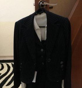 Женский классический офисный костюм пятёрка (пиджа
