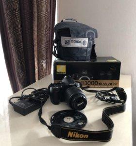 Фотоаппарат зеркальный Nikon D3000 18-55 VR kit