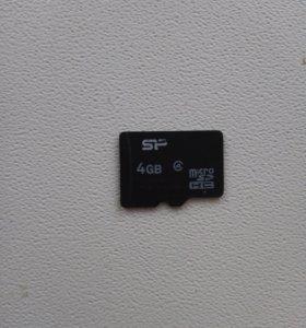 Продам карту памяти для телефона на 4 гигобайт