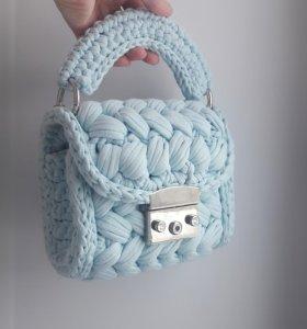 Женская вязаная сумка Зефирка