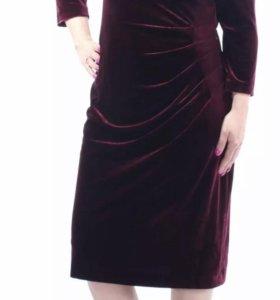 Шикарное фирменное платье бархат новое 50-52