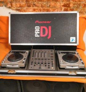 Пульт Pioneer DJM - 600 player CDJ- 800MK2