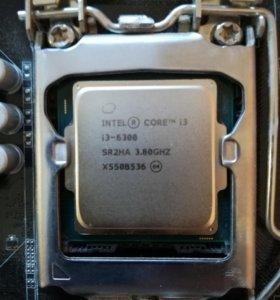 Процессор i3-6300 LGA 1151 + мать