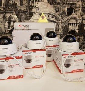 4МП IP набор видеонаблюдения Hikvision на 4 камеры