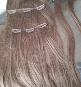 Искусственные волосы на заколках 60см