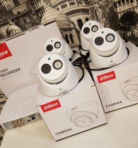 2 Мп комплект FullHD наблюдения Dahua на 4 камеры